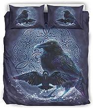 Ninguna marca Viking Odin's Crow - Juego de sábanas de 3 piezas de microfibra ultrasuave para el hogar, Blanco, 66x90 inch