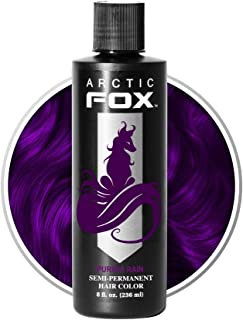 Arctic Fox Vegan and Cruelty-Free Semi-Permanent Hair Color Dye (8 Fl Oz, PURPLE RAIN)
