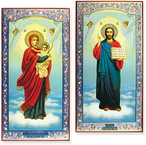 World Faith Russian Icon Beautiful Sale Special Price of Set Matching Mary Classic Virgin
