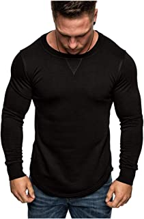 VANVENE Men Pullover Casual Sweatshirts Long Sleeve Jumper Crewneck Plain Sweatshirt Regular fit Top