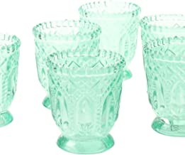Koyal Wholesale Vintage Glass Candle Holder (Pack of 6), 3 x 2.75 (Mint)