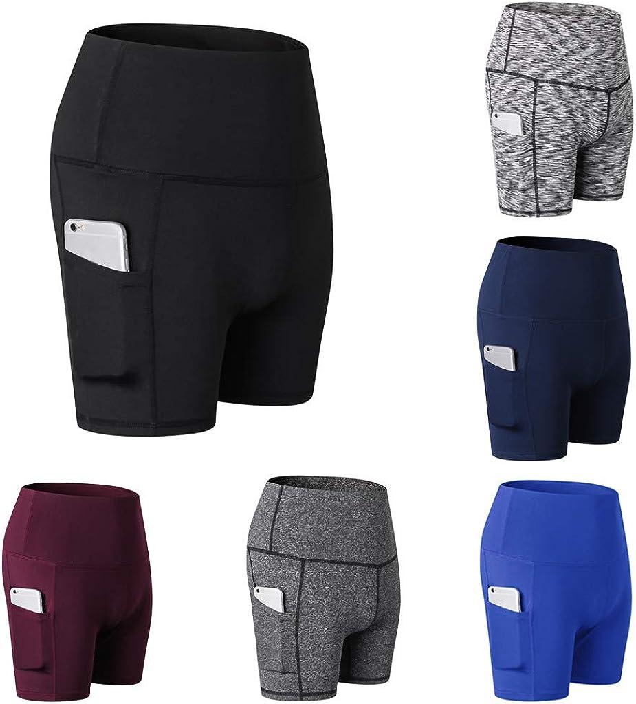 AODONG Yoga Shorts for Women, Women's Workout Shorts Booty Yoga Butt Lifting High Waist Ruched Scrunch Short Leggings