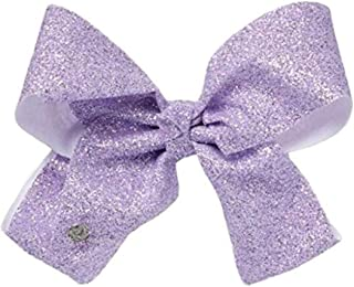 JoJo Siwa Large Cheer Hair Bow for Girls - Purple Lavender Sugar Glitter