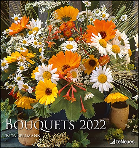 Bouquets 2022 - Foto-Kalender - Wand-Kalender - 45x48 - Blumen-Kalender