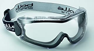 Bolle Safety 180˚ Goggle with Clear Lens,  Black/Clear,  Clear