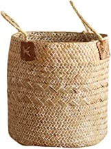 Smartcoco Cotton Rope Woven Storage Basket with Handle Toys Books Sundries Hanging Storage Holder Container Home Decoration