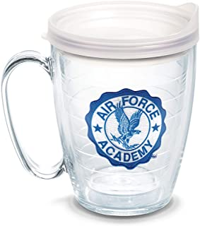 Tervis Air Force Falcons Seal Tumbler with Emblem and Frosted Lid 16oz Mug, Clear