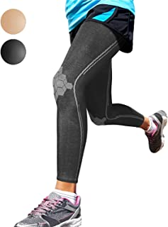 Sparthos Leg Compression Sleeves - Aid in Recovery and Support Active Lifestyle - Innovative Breathable Elastic Blend - Anti Slip, Day & Night Wear