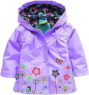 Kids Baby Girl Waterproof Windproof Hooded Coat Jacket Outwear Hoodies Raincoat