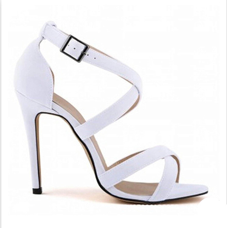 Fairy music Ladies Party Cross Strap Summer Women High Heels Sandals shoes Sexy Nightclub Sandals