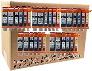 No-name Compatible Ink Cartridge Replacement for Canon PGI225 PGI 225 XL CLI-226 PGI-225 MG6110 MG6120 MG6120Refurbished MG6220 MG8120 MG8120B MG8220 Inkjet Printer (5 Set 5 Color + 5 Black)