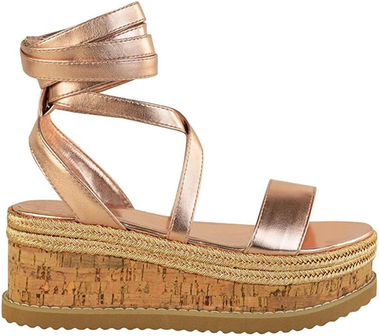 Believed Summer Wedge Espadrilles Women Sandals Open Toe Sandals Women Casual Women Platform Sandals