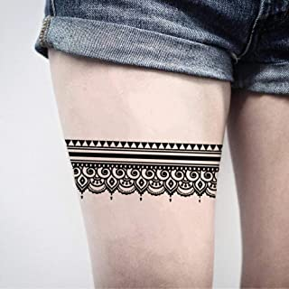 Garter Temporary Fake Tattoo Sticker (Set of 2) - www.ohmytat.com
