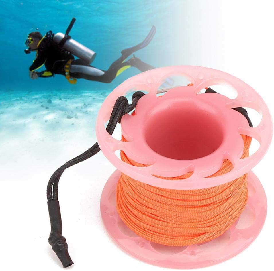 Plastic Wire Reel 3 Colors Buoy Rope Wheel Plastic Line Spool 15m 77g Diving Marker Wheel Underwater Activities for Diving Snorkeling Photography