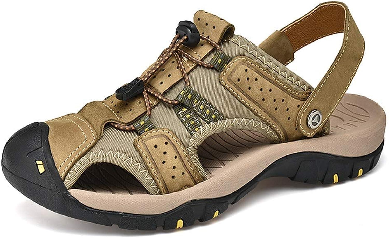 BAIJJ Mens Summer Sandals, Mode weiche weiche Sandalen Crash-Proof und leicht zu tragen Lace Up Outdoor-Freizeitschuhe (Farbe  Khaki, Größe  7 UK)  beeilte sich zu sehen