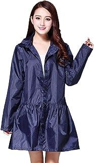 PENGFEI 女性 レインコートポンチョ 防水 ジャケット ウインドブレーカー トレッキング 日焼け止め 通気性のある、 2色展開 (色 : 青, サイズ さいず : M)