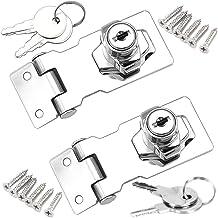 YUOIP® Lade Kast Sloten Hangslot Hasp Lock Cam Lock RVS Poort vergrendeling met Schroeven voor Meubilair Mailbox Kast Lade...