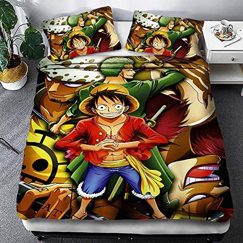 One Piece 3D Monkey D. Luffy Print Juegos De Fundas