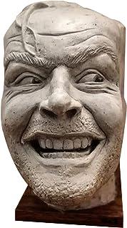 BULABULA Sculpture of The Shining Bookend Library Here?s Johnny Sculpture Resin Bureau Ornement Book Shelf