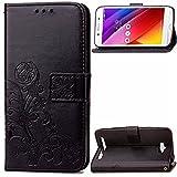 Qiaogle Téléphone Coque - PU Cuir rabat Wallet Housse Case pour Asus Zenfone Max ZC550KL (5.5...