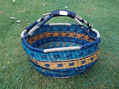 Einkaufskorb Malikorb, Korbtasche aus Seegras, (Farbe/Muster von Korbhaus Gesthüsen ähnlich Sortiert)