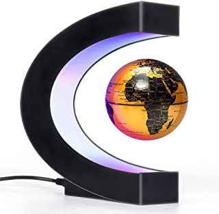 Magnetic Levitation Floating Globe with LED Light, Cool Gadgets Decor, Fixture Floating Globes &...