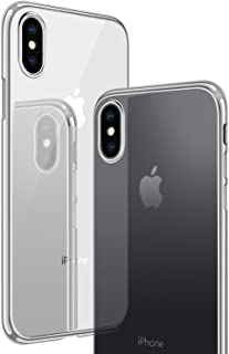 CASEKOO iPhone X Case, iPhone 10 Case, Slim Fit Ultra Thin Clear Case with Soft Silicone Protective Transparent Back Shockproof Bumper Cover Compatible with iPhone X(ONLY) [Tender Series]- Silver