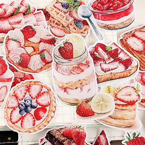 Fruit Dessert Cake Stickers Kawaii Aardbei Voedsel Scrapbooking Stickers Diy Decoratie Dagboek Craft20 Stks/pak