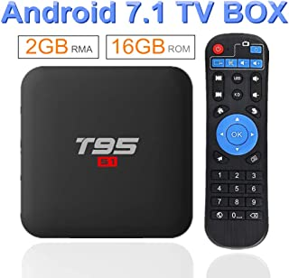 EVANPO Android 7.1 TV Box 2GB RAM 16GB ROM Amlogic S905W Quad core CPU Support 4K/ H.265/ 3D Outputs Full HD 2.4Ghz WiFi Smart TV Box Media Player
