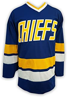 Mad Brothers Charlestown Chiefs Slapshot Movie Officially Licensed Hockey Jersey Made in Canada