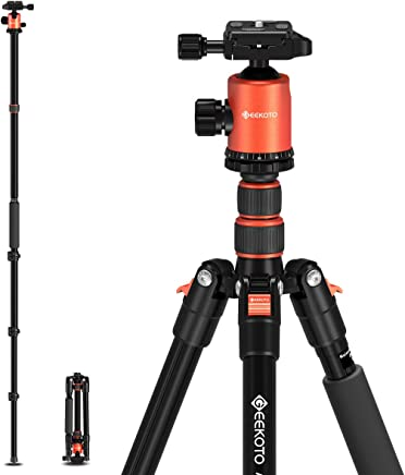 Geekoto Tripod, Camera Tripod for DSLR, Compact 77''...