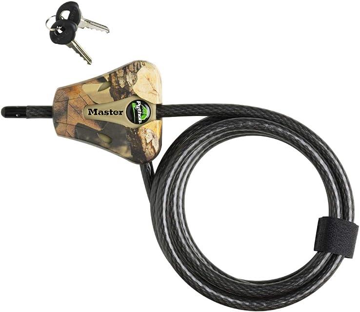 Master Lock 8418KADCAM-TMB Python - Cable  de bloque ajustable trenzado de acero