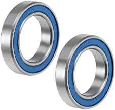 uxcell 6802-2RS Deep Groove Ball Bearing 15x24x5mm Double Sealed ABEC-3 Bearings 2-Pack