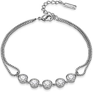 MESTIGE Payton Bracelet with Swarovski Crystals, Gifts Women Girls, Bridal Bracelet