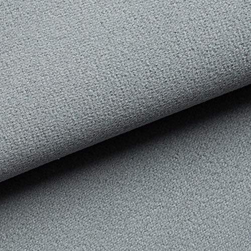 NOVELY® Triton Microfaser Velours Wildleder-Optik 34 Farben Möbelstoff Polsterstoff (14 Mittel Grau)