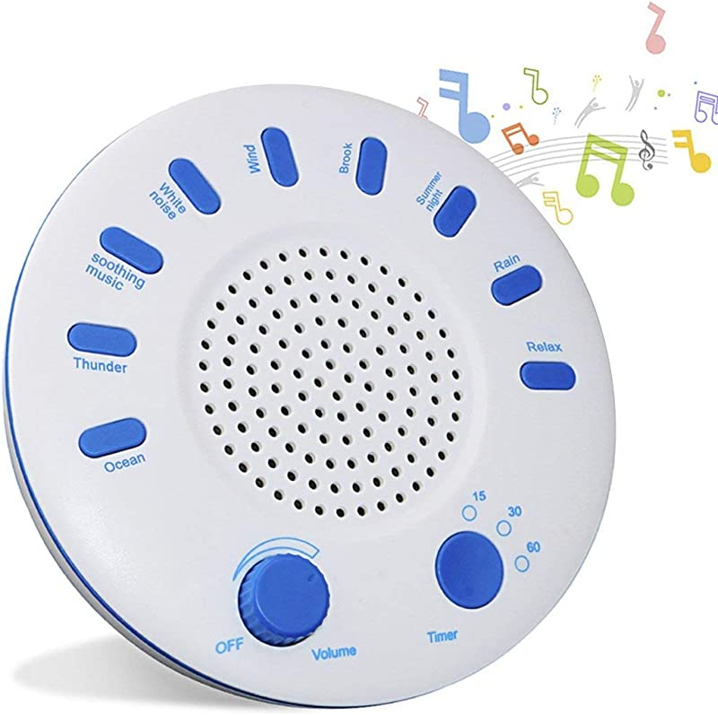 Sleep Sound Machine White Noise Machine For Sleeping With 9 Natural Sounds And Timer Spa Relaxing Machince Protable Sleep Therapy Home Use Improve Sleep Quality For Baby Children Women Men