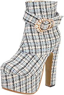 KemeKiss Women Sexy Platform Boots Evening Club High Heels