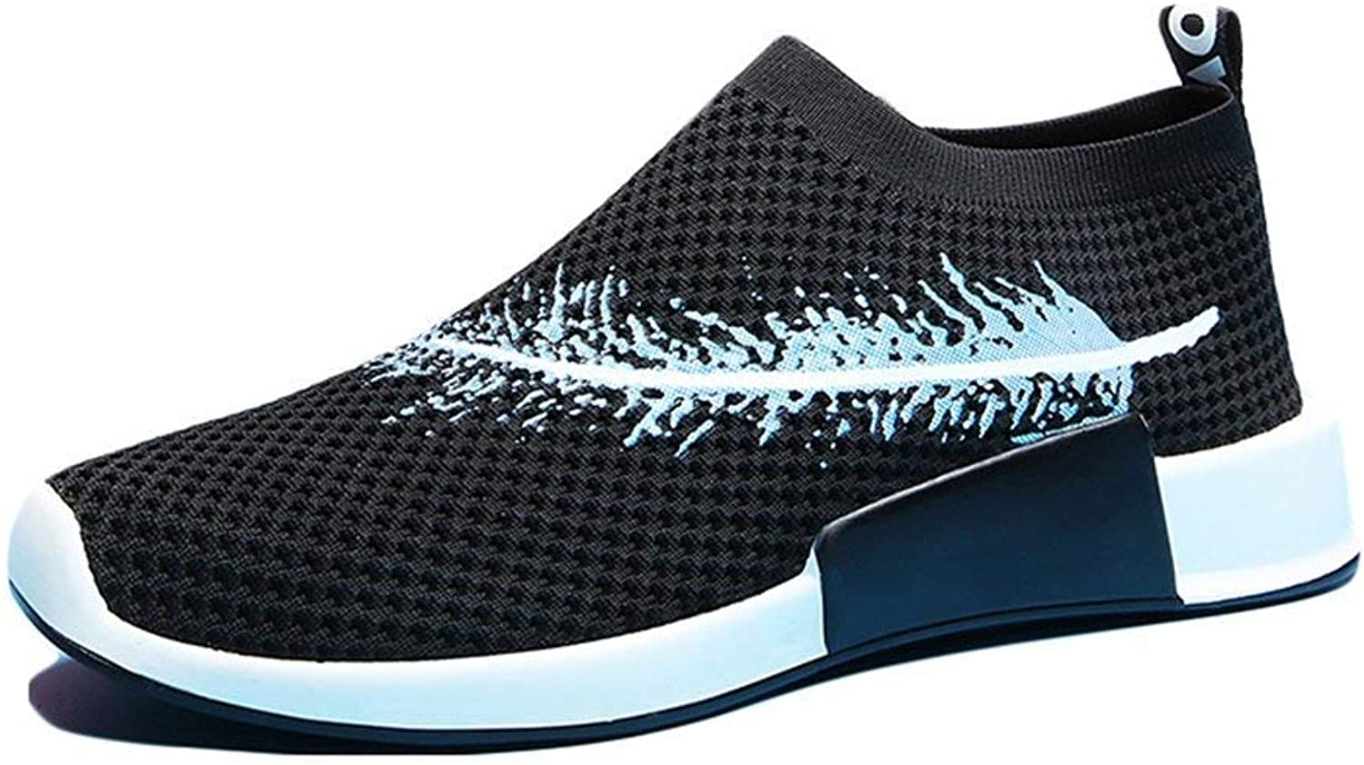 ZHRUI Adults Outdoors Trainers Summer Running shoes for Men Woman Sock Footwear Sport Athletic Unisex Breathable Mesh Female Sneakers (color   W01 Black, Size   8 UK)