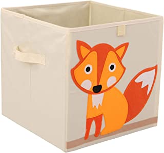 Murtoo Toy Bin Foldable Storage Cube Box Eco Friendly Fabric Toy Storage Cubes Organizer for Kids Toy Chest, 11 Inch (Fox)