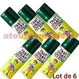 www.atoutpourlafete.fr Lot de 6 Aérosols Bombes puantes, Spray Puant, Spray Fetide