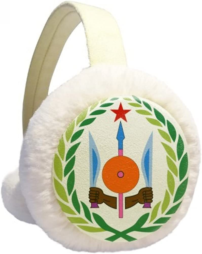 Djibouti National Emblem Winter Ear Direct sale of manufacturer Knit Warmer Cable Max 76% OFF F