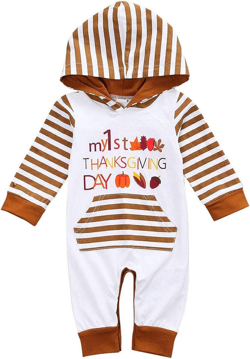 FIOMVA Newborn Infant Baby Boy Turkey Omaha Clearance SALE! Limited time! Mall Romper Girl Thanksgiving B