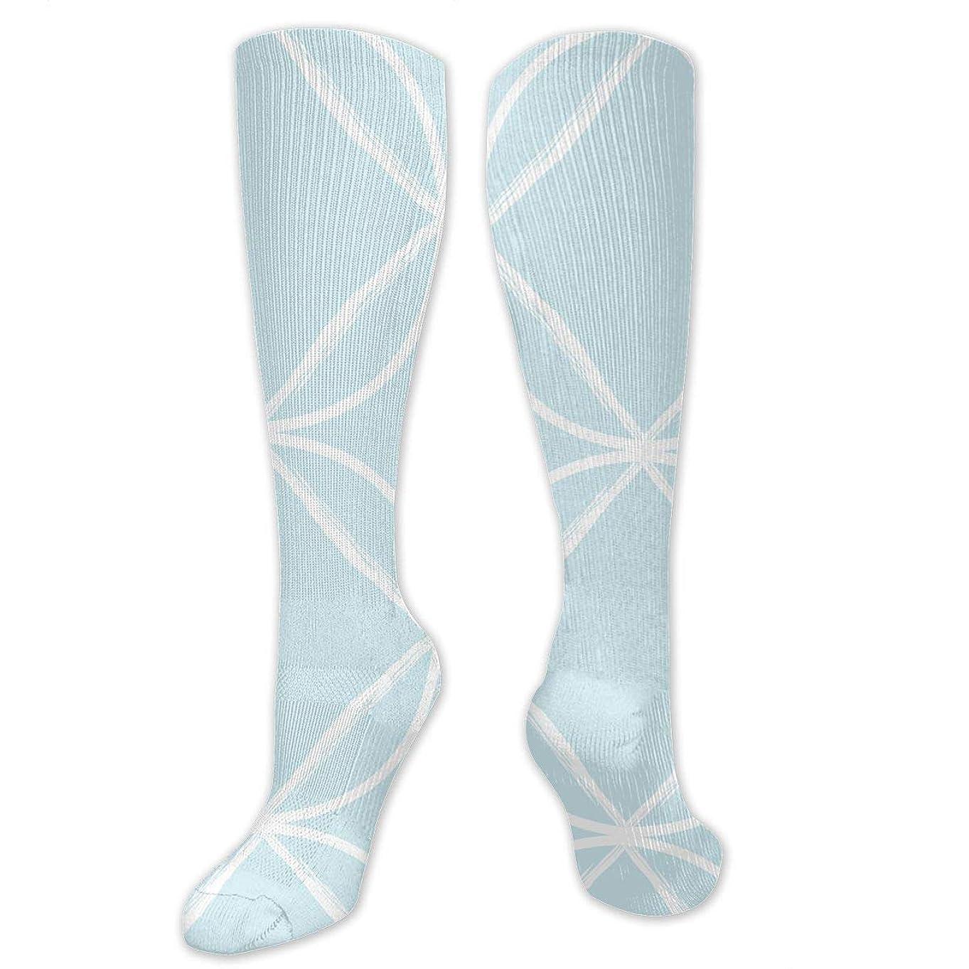 転倒練るダイエット靴下,ストッキング,野生のジョーカー,実際,秋の本質,冬必須,サマーウェア&RBXAA Women's Winter Cotton Long Tube Socks Knee High Graduated Compression Socks Circle Ogee Pale Blue Fabric (3795) Socks