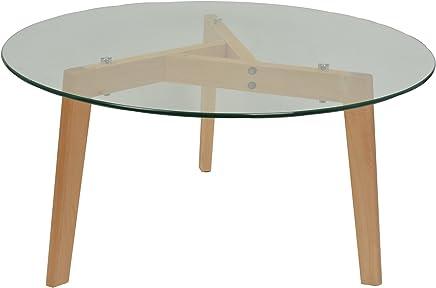 Amazon Fr Plateau Verre Rond Tables Basses Tables