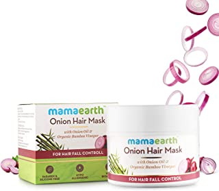 Mamaearth's Onion Hair Mask for Hairfall Control with Organic Bamboo Vinegar 200gm