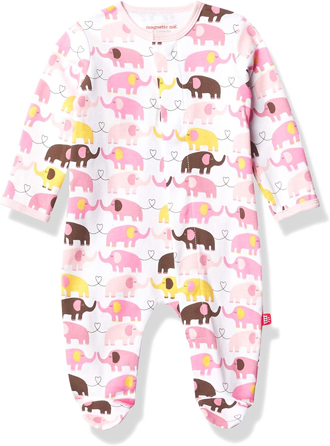 Magnificent Baby Year-end gift Girls Magnetic Omaha Mall Cotton Pajamas Fastener Footie