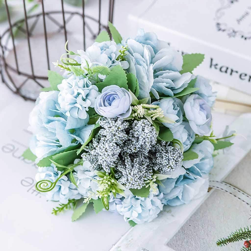 TJLSS 100% quality warranty Nordic Latest item Artificial Flower Rose Wedding Holding Bouquet Silk