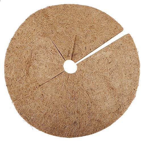 Meiyum Kokosfaser-Baum-Ring, Mulch, Unkrautwurzel, Schutzmatte, natürliche Kokosfaser, Schutz gegen Unkraut, für den Innen- und Außenbereich, 4 Stück