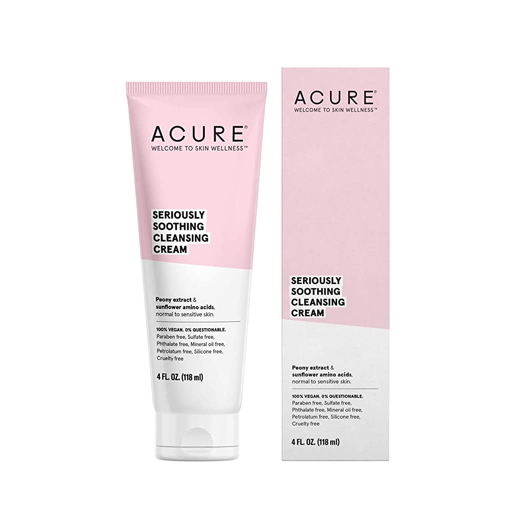 不和月面憧れAcure Organics, Sensitive Facial Cleanser, Fragrance Free, 4 fl oz (118 ml)