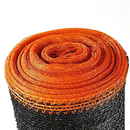 HUO Sun Mesh Sunflock 3-pin 55% Ombre Sunblock Shade Tissu Résistant Aux UV Toile Extérieure Couverture Bâche (Couleur : Black+Orange, Taille : 2 * 50m)